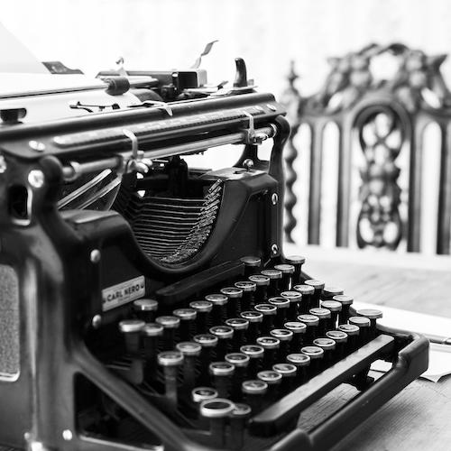 kuvituskuva, kirjoituskone